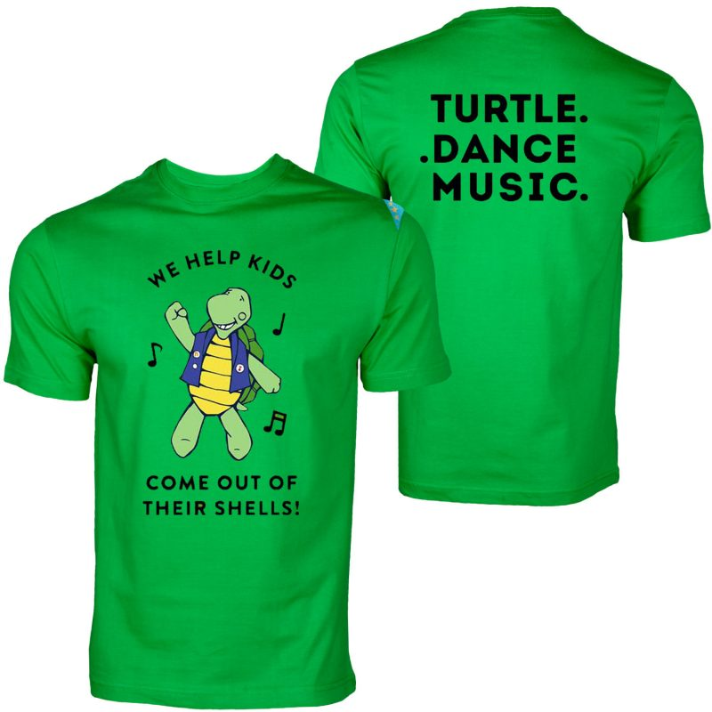 Turtle dance musice 2017 T-shirt front and back