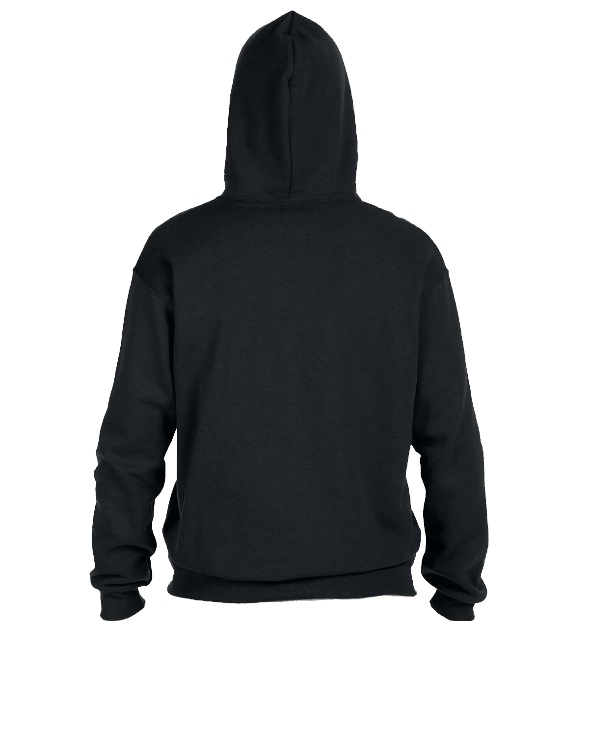 Adult black hooded sweatshirt back