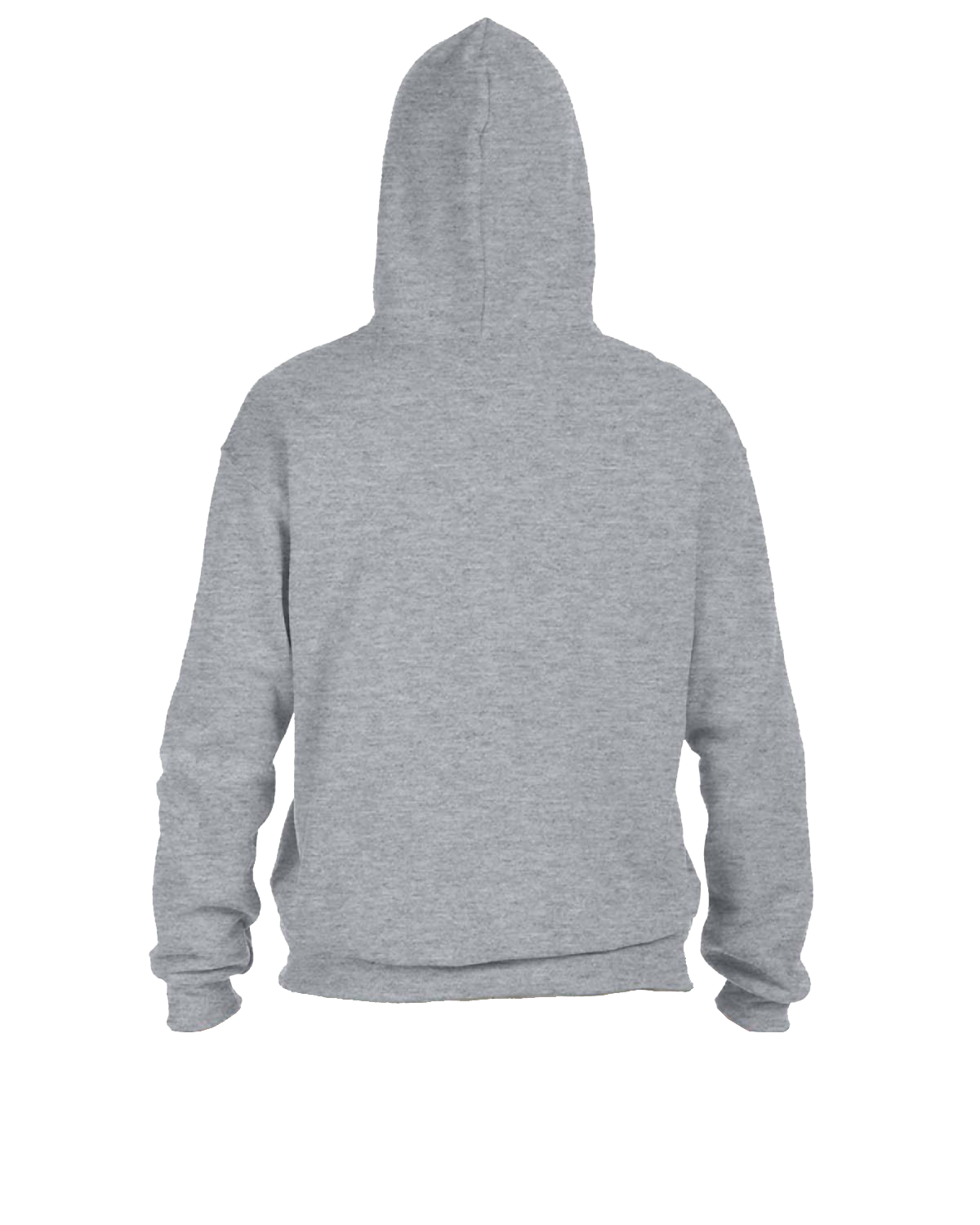Adult grey hooded sweatshirt back