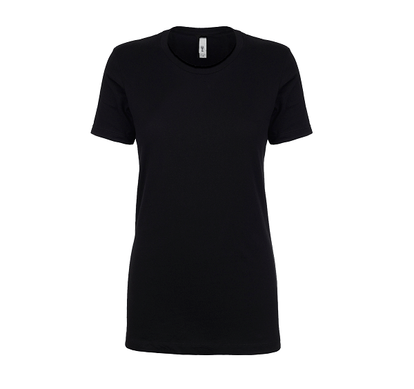 Next Level Ladies' Ideal t-shirt front black n1540 (1)