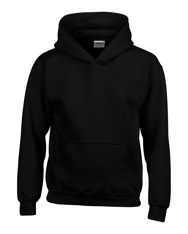 youth black sweatshirt front