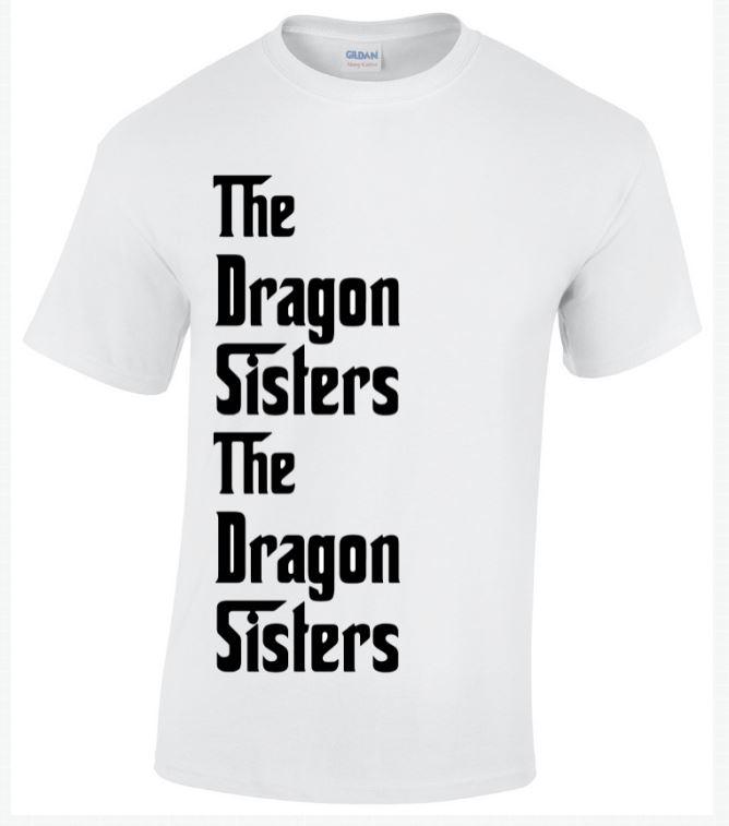 Dragon sisters white t-shirt